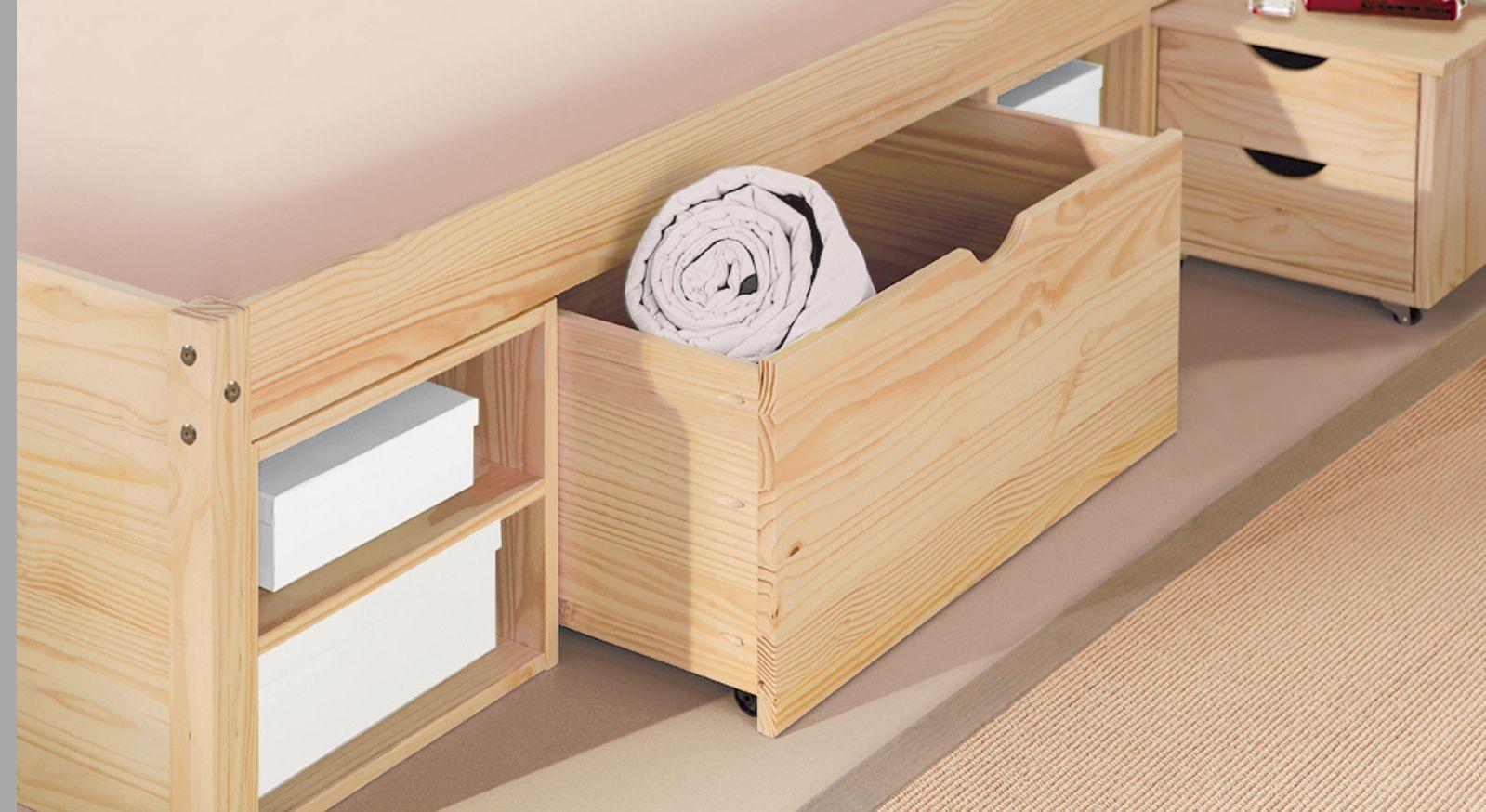 Bett Oslo mit großer Schublade