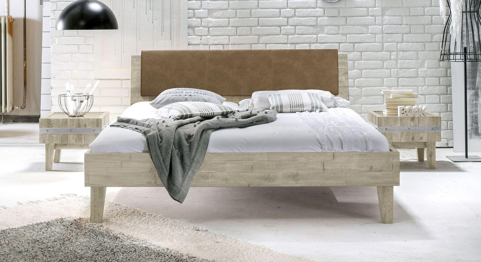 Bett Paraiso aus weißer Akazie