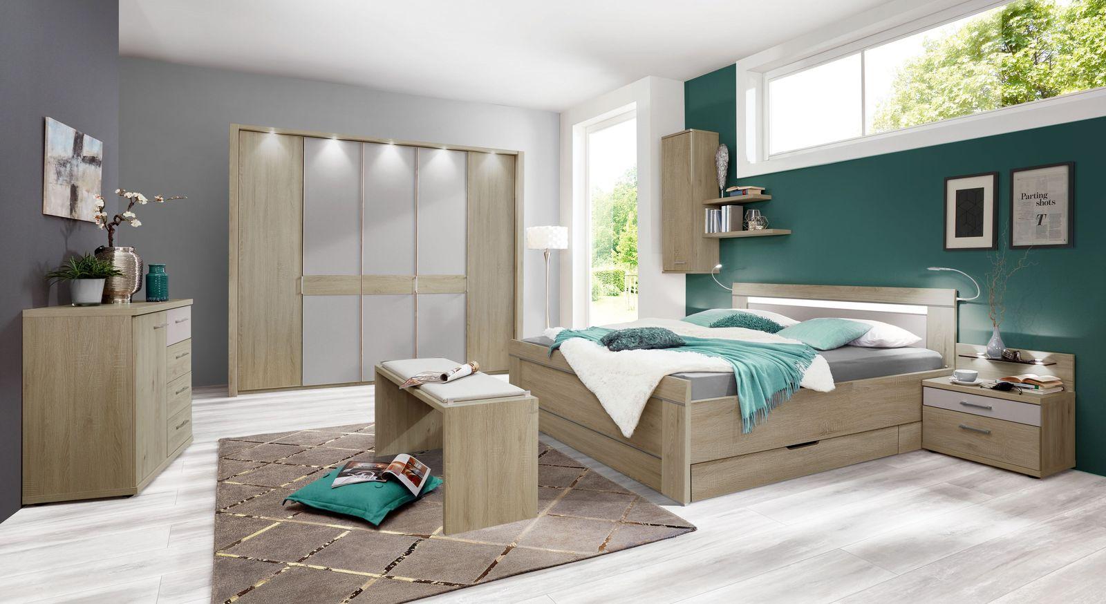 Bett Pelham mit passender Schlafzimmer-Ausstattung