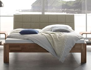 Modernes Komplett-Schlafzimmer aus massivem Nussbaumholz - Pello