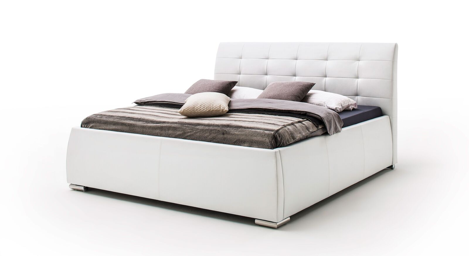 Bett Pungo aus weißem Kunstleder