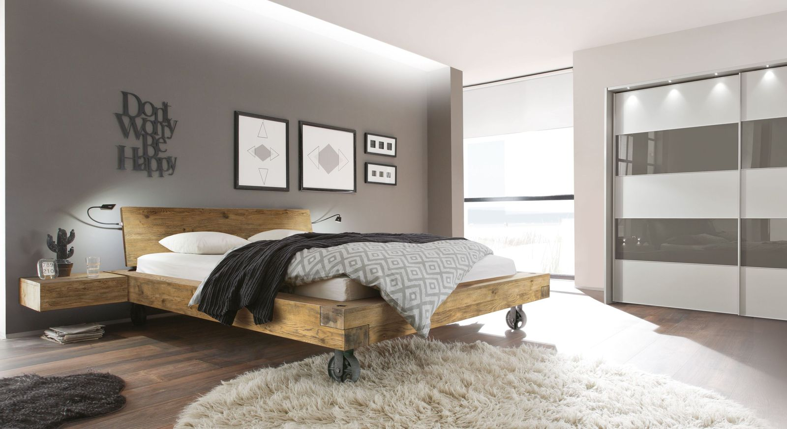 Bett Quesada mit passenden Schlafzimmermöbeln