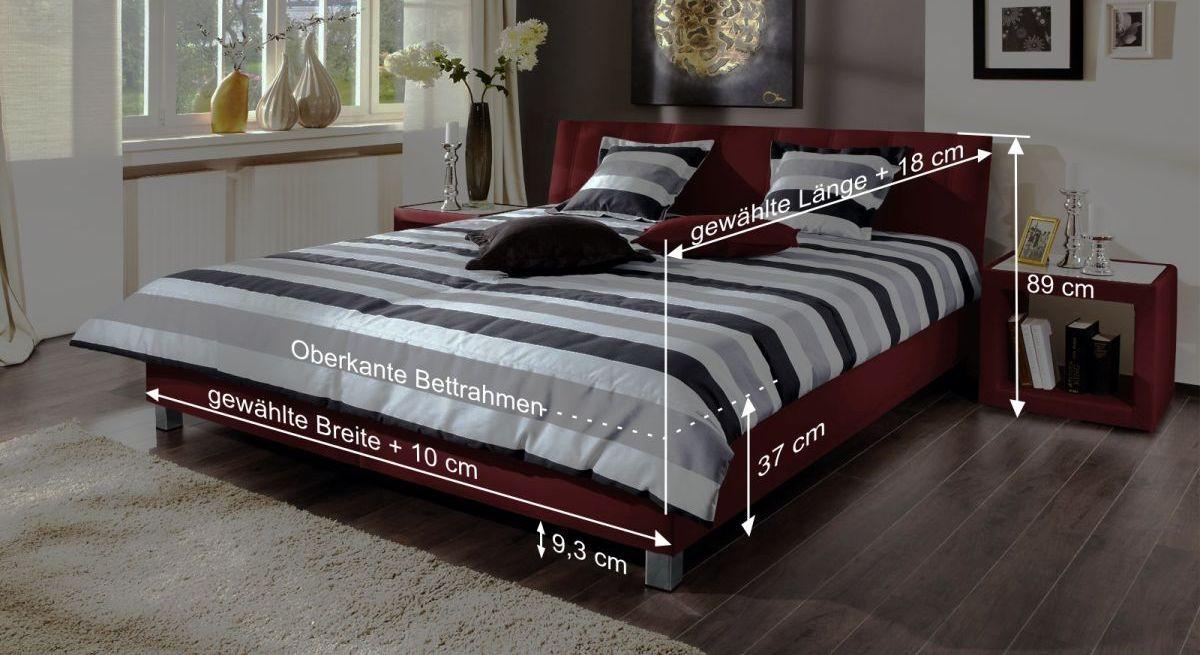 Bett Remigios Bemaßungsgrafik