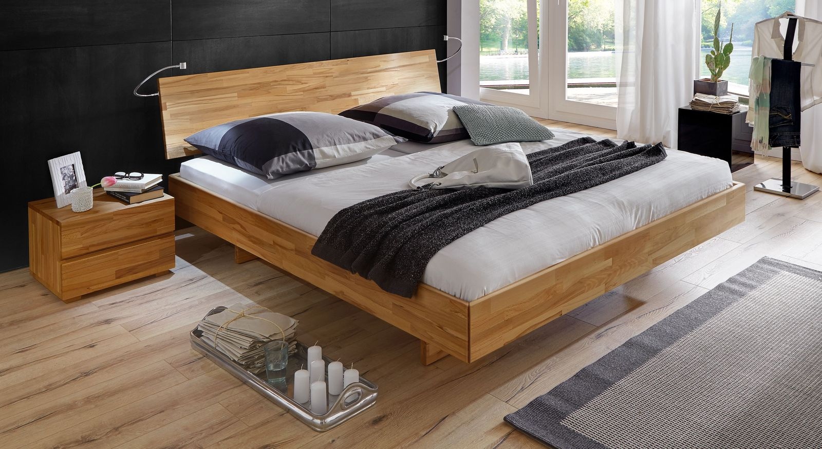 bequemes bett rimini aus hochwertigem buchenholz. Black Bedroom Furniture Sets. Home Design Ideas