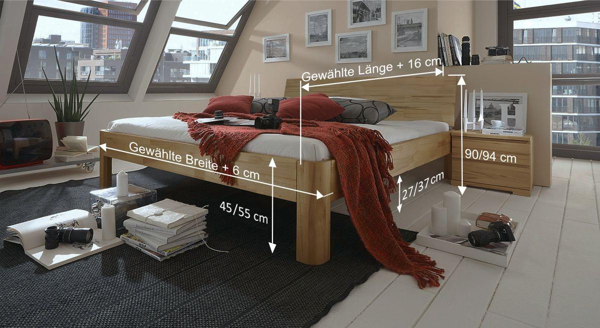 Bemaßungsskizze des Bett Rodari