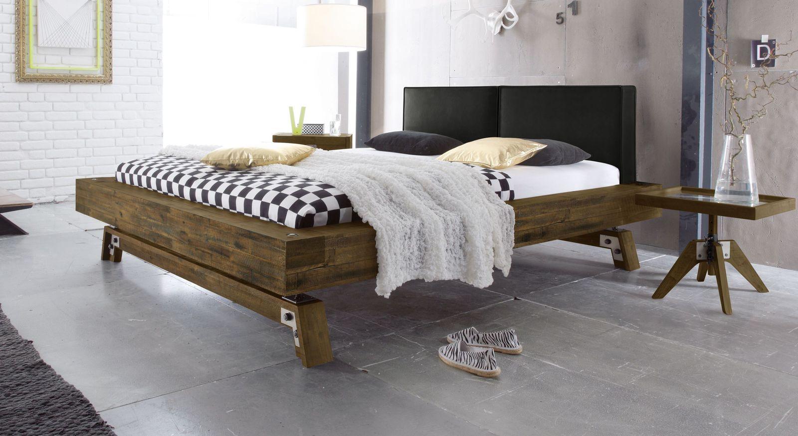 Bett Salo aus braunem Akazienholz