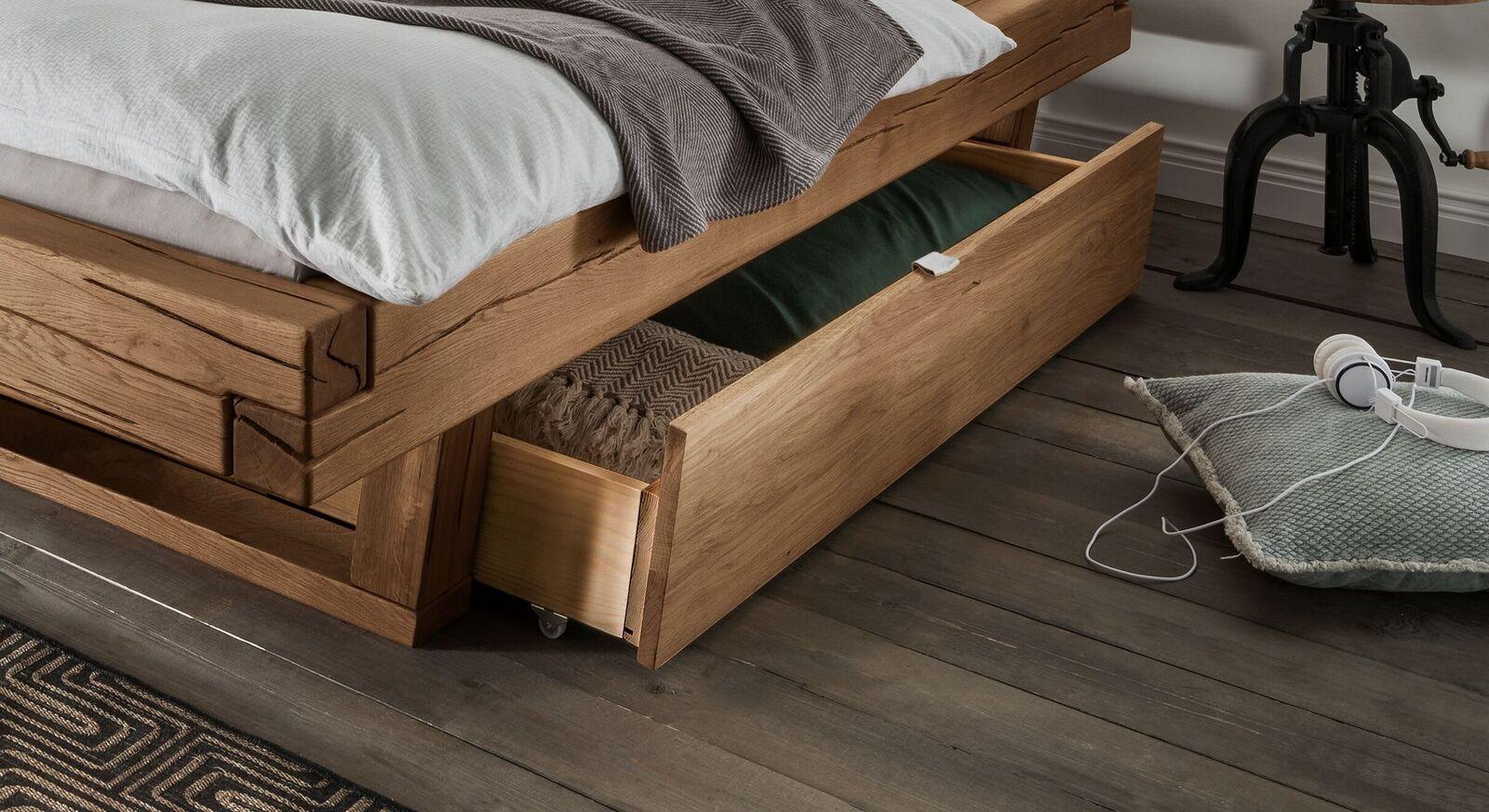 Bett-Schubkästen Rigolato aus Echtholz