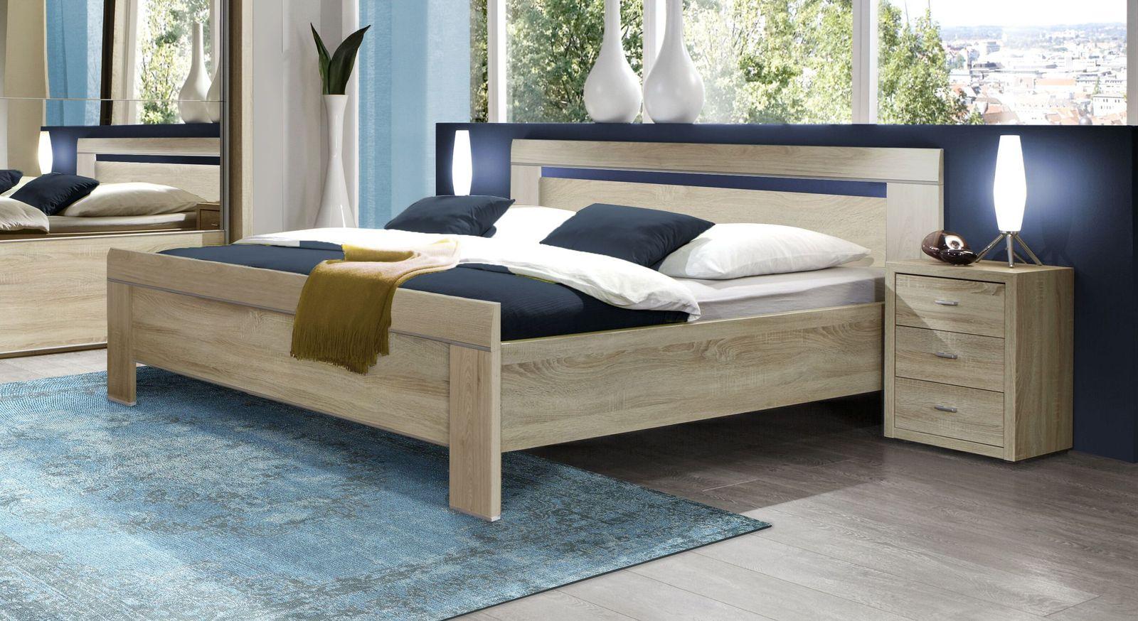geradliniges komforth he bett in eiche s gerau dekor seymour. Black Bedroom Furniture Sets. Home Design Ideas