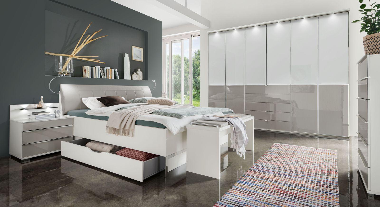 Funktions-Kleiderschrank mit Glasfront & Schubladen - Shanvalley