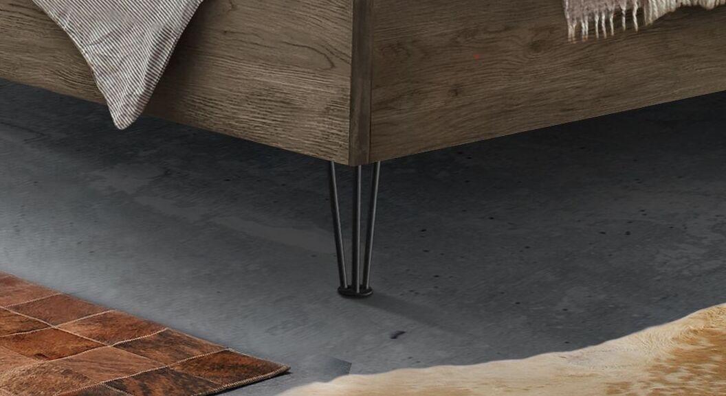 Bett Silandro mit filigranen Metallbettbeinen