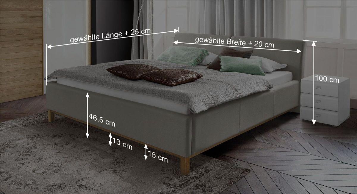 Bett Sulivans Bemaßungsgrafik
