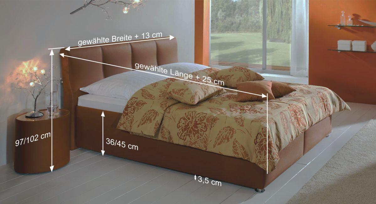 Bett Toskana mit Bemaßungs-Skizze