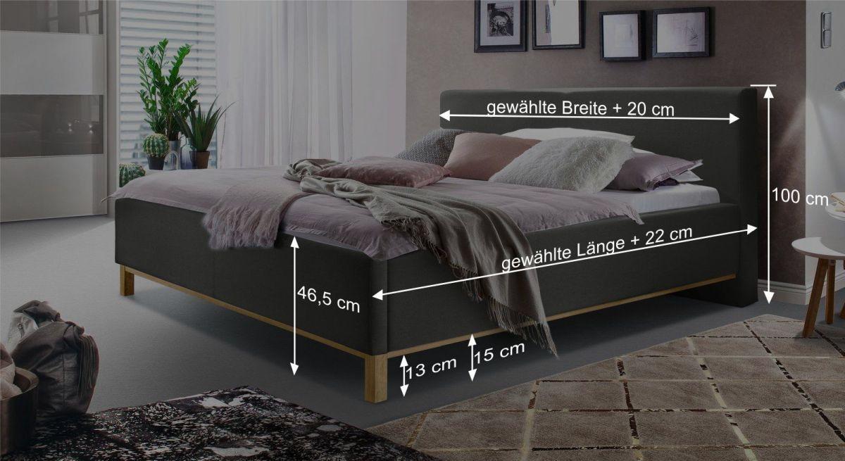 Bett Tranquilos Bemaßungsgrafik
