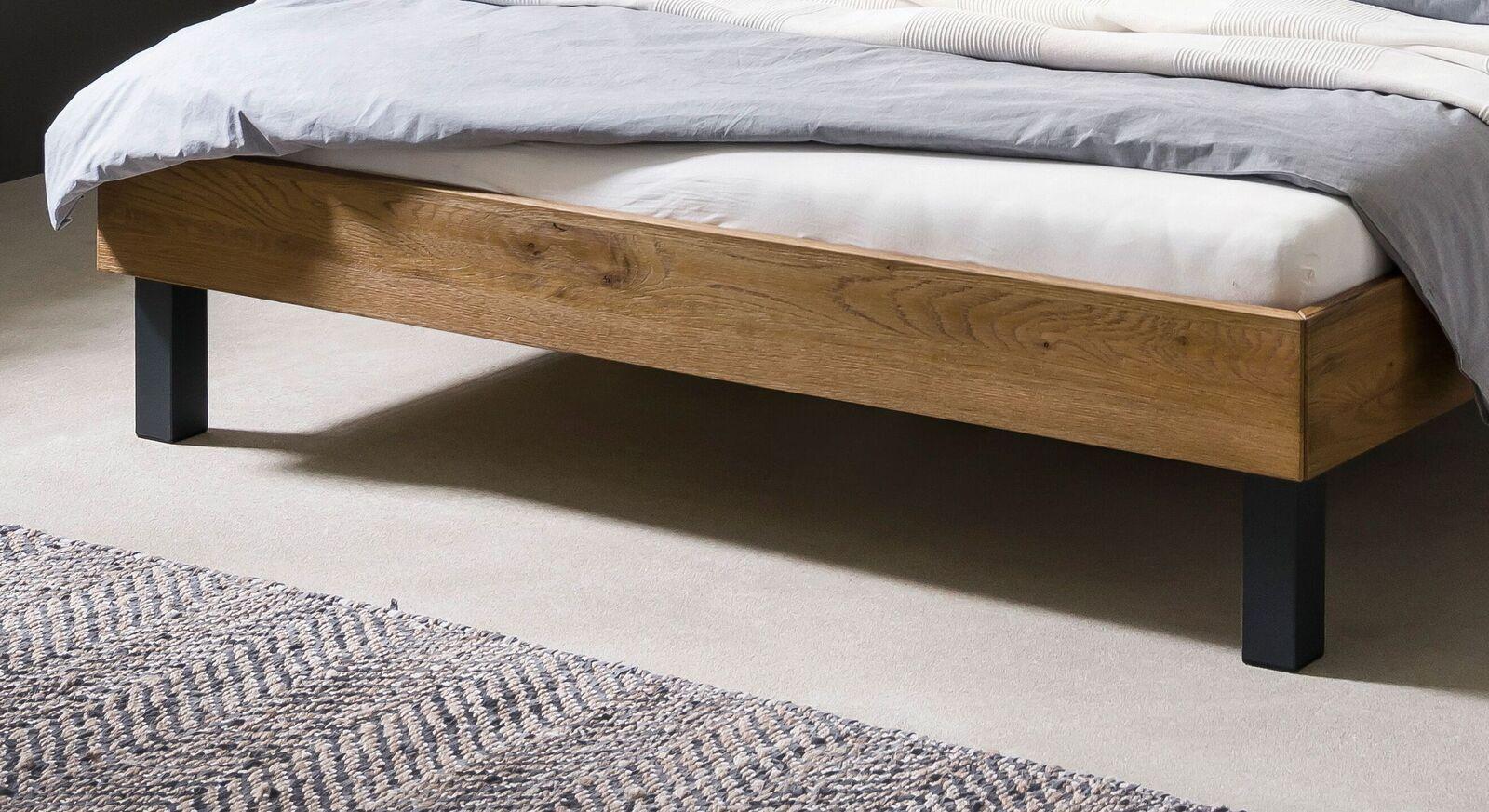 Bett Tumas mit Metall-Füßen in Anthrazit