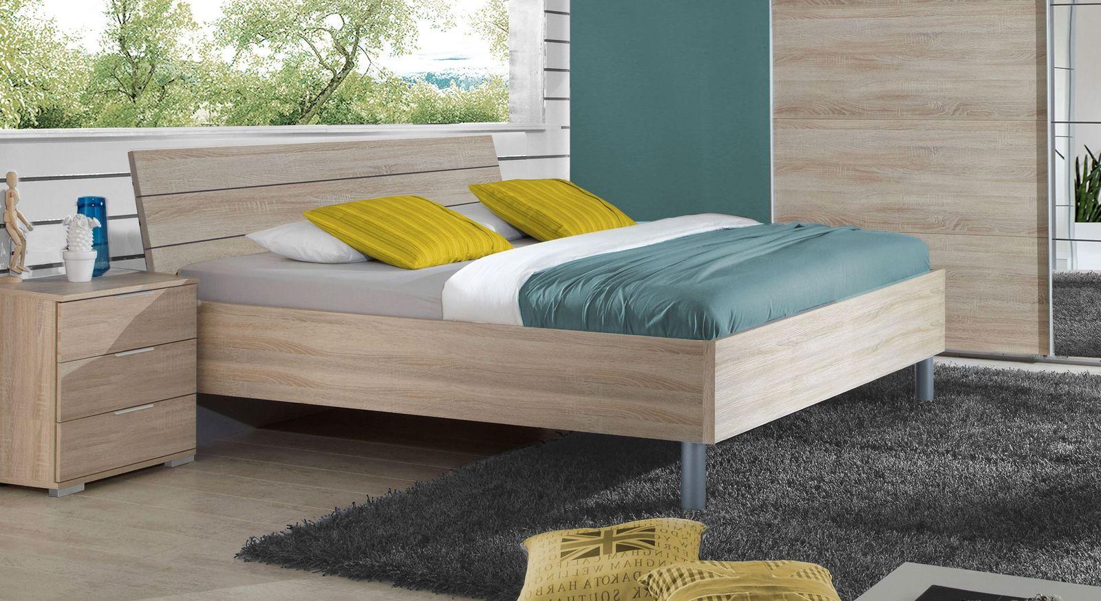 g nstiges bett eiche s gerau nachbildung h he w hlbar turania. Black Bedroom Furniture Sets. Home Design Ideas