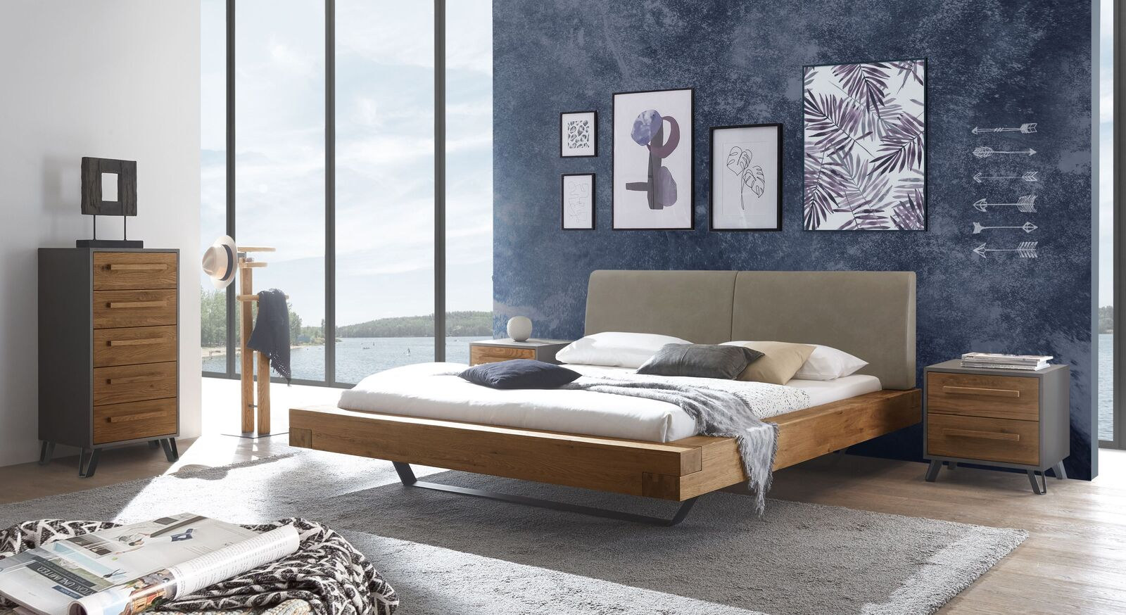 Passende Schlafzimmermöbel zum Bett Valladion