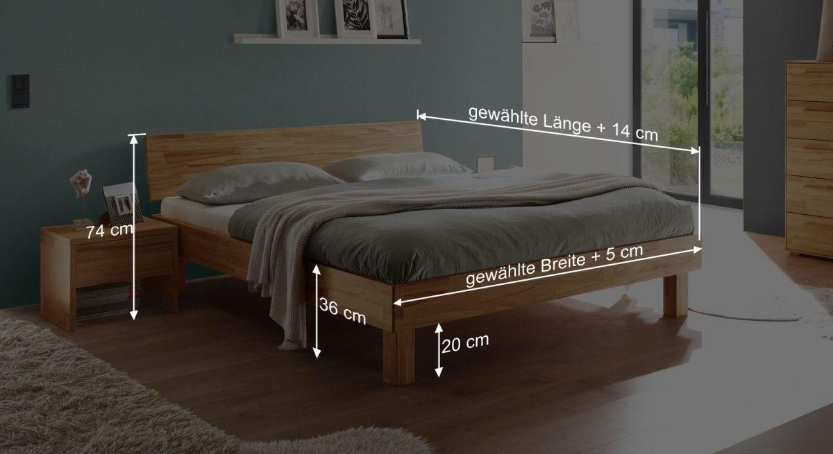 Bett Varions Bemaßungsskizze