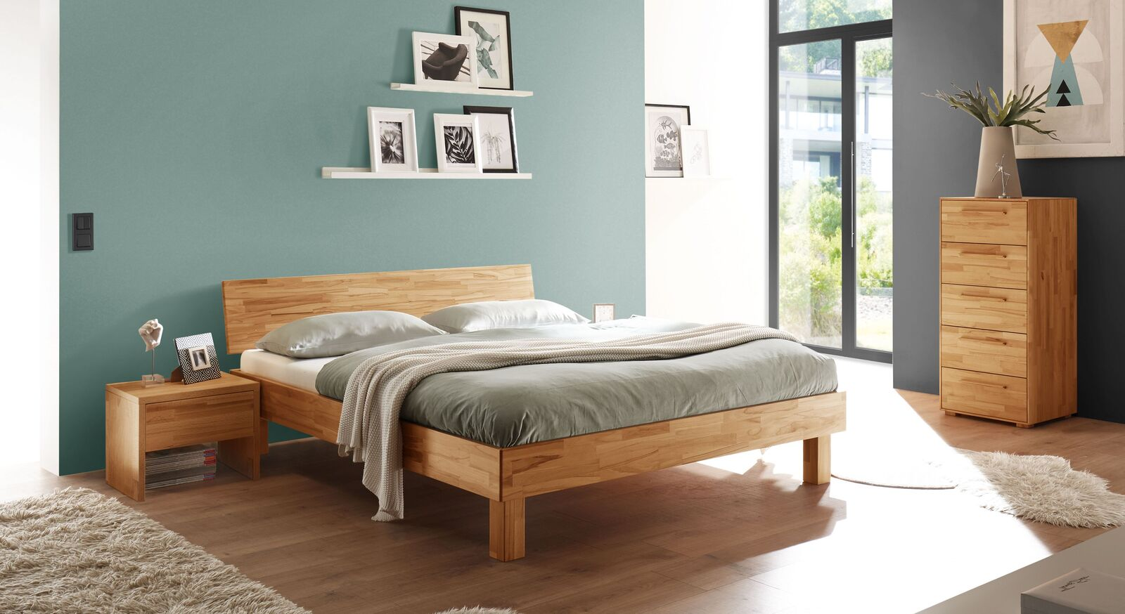 Bett Varion mit passenden Schlafzimmermöbeln