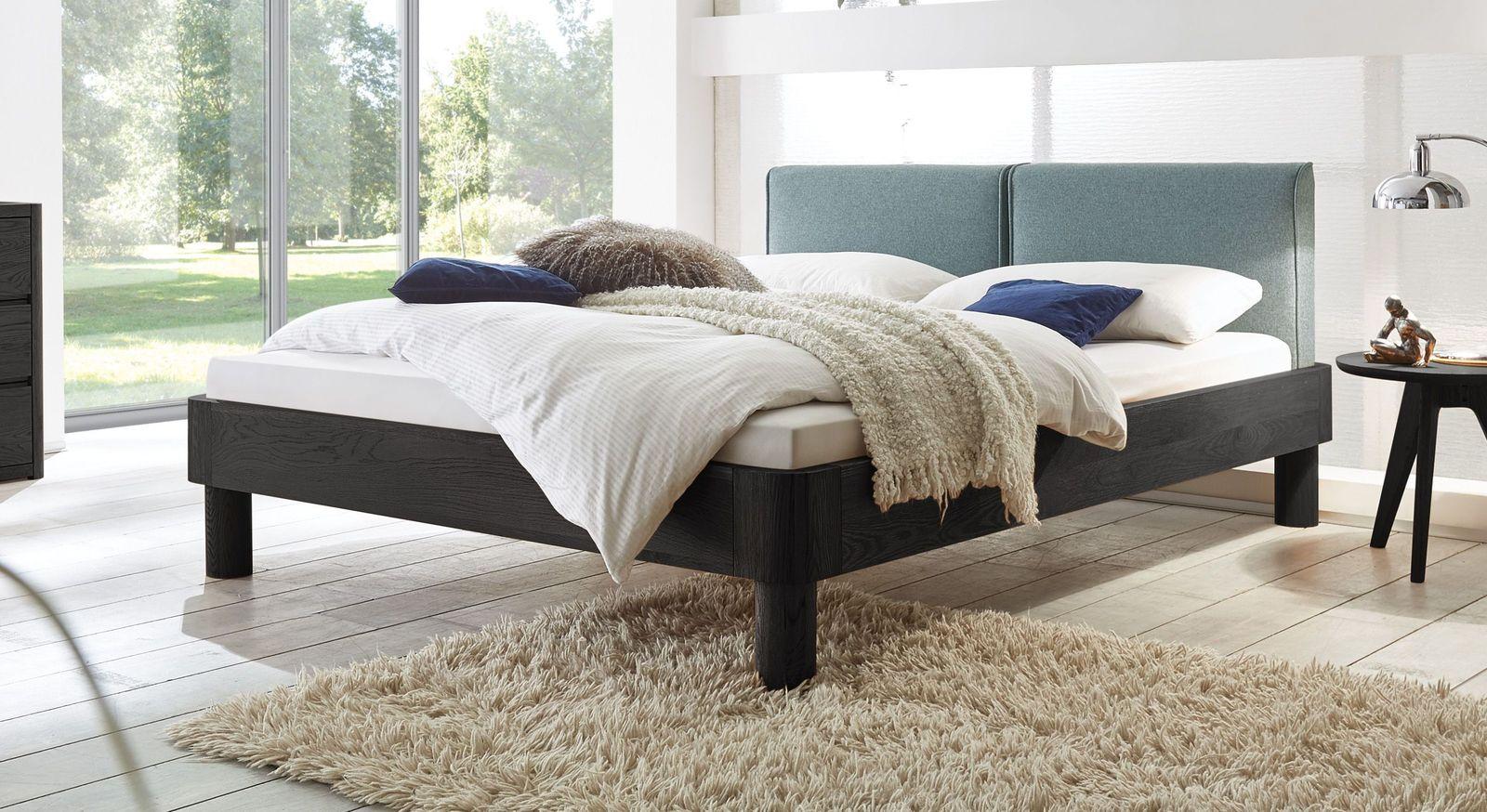 Bett Velasco aus graphitfarbener Eiche