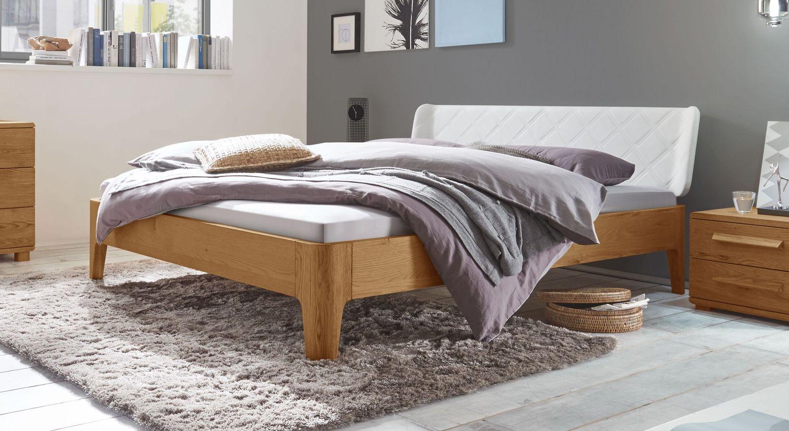 Bett Viamao aus natürlichem Eichenholz