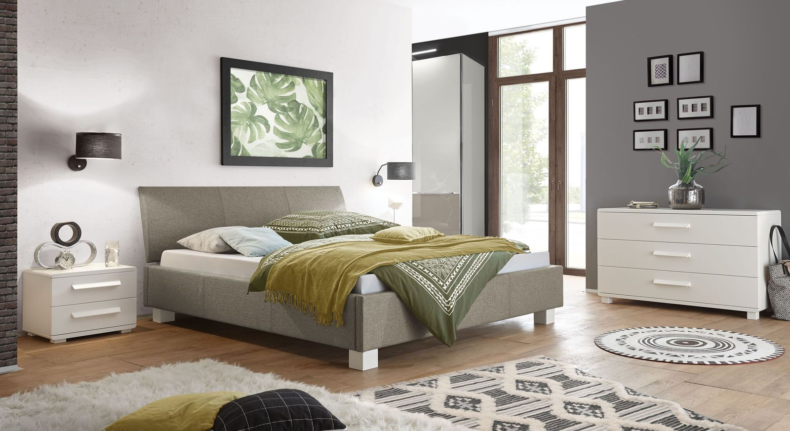 Bett Wakefield mit passenden Schlafzimmermöbeln