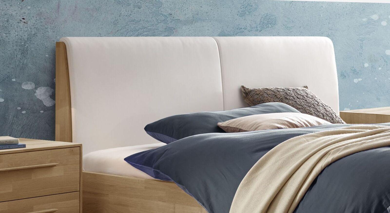 Bett Weronco mit Kopfteil aus Luxus-Kunstleder
