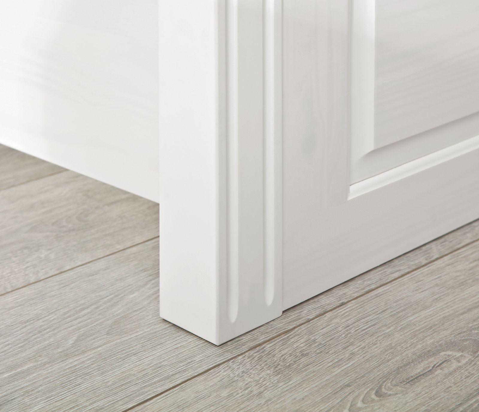 holzbett aus weiß lackierter kiefer im landhausstil - wien, Hause deko