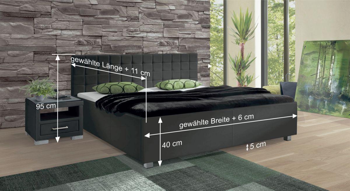 Bemaßungsskizze des Betts Withernsea