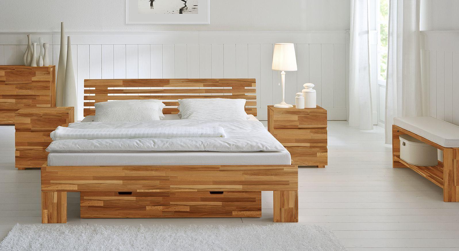 Bett Wood Romance aus Kernbuchen Holz