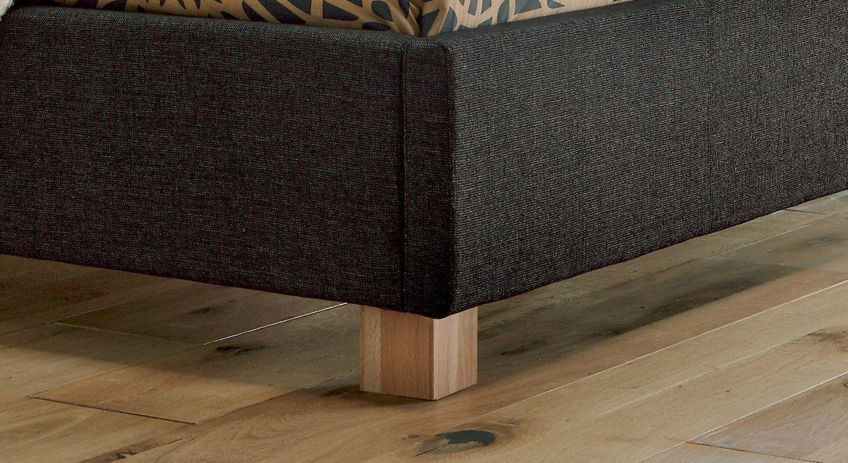 Bett Medina Bettbeine Füße aus Massivholz