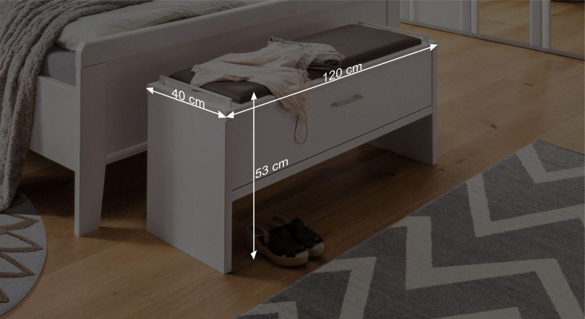 Bemaßungsgrafik zur Bettbank Castelli
