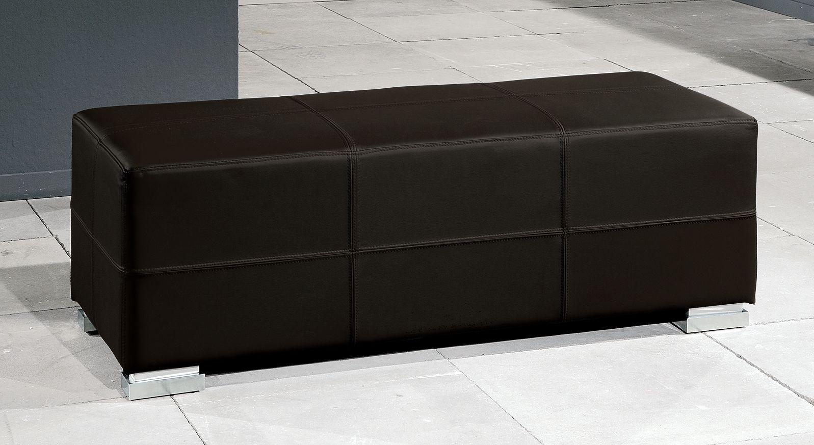 Moderne Bettbank Firenze in Kunstleder braun
