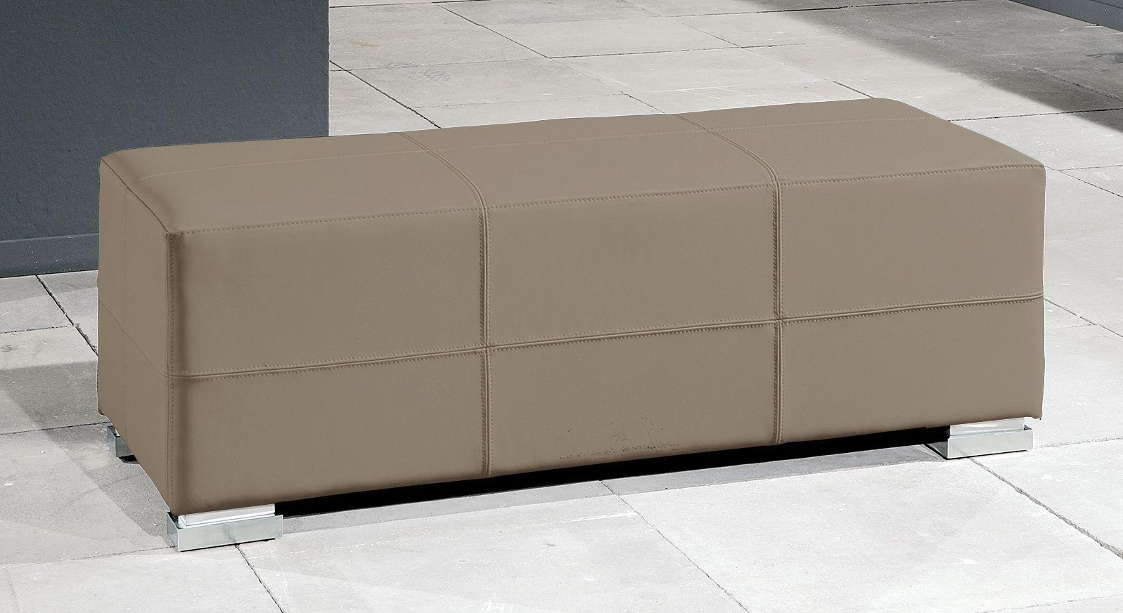 Moderne Bettbank Firenze in grau-braunem Kunstleder