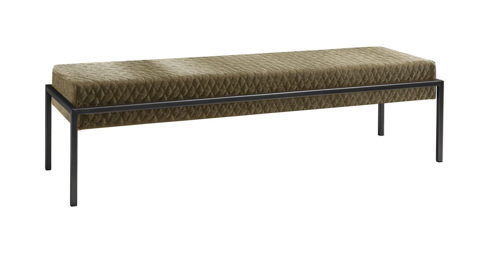 Bettbank Gran Rosario mit anthrazitfarbenem Metallgestell