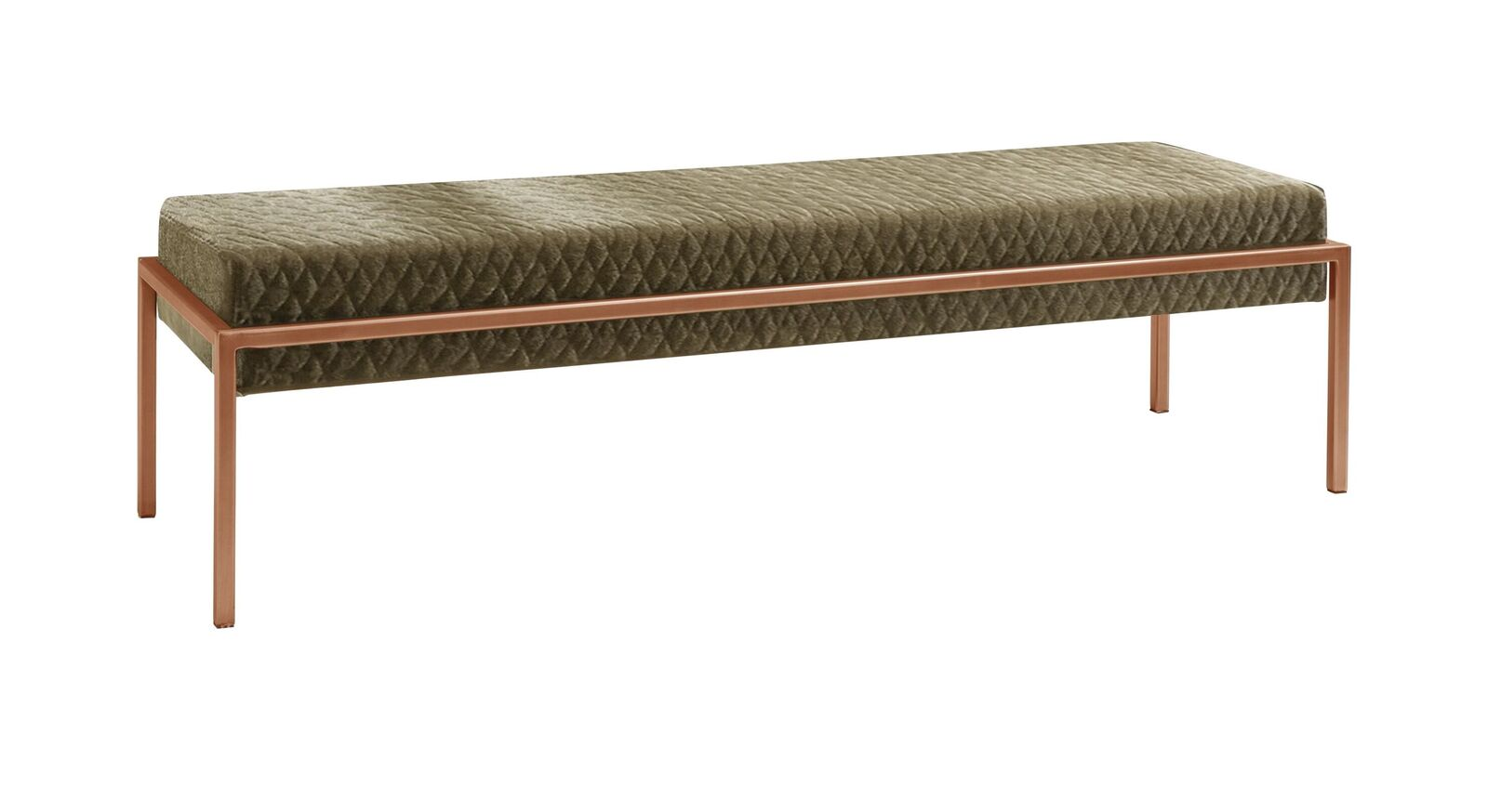 Bettbank Gran Rosario mit kupferfarbenem Metallgestell
