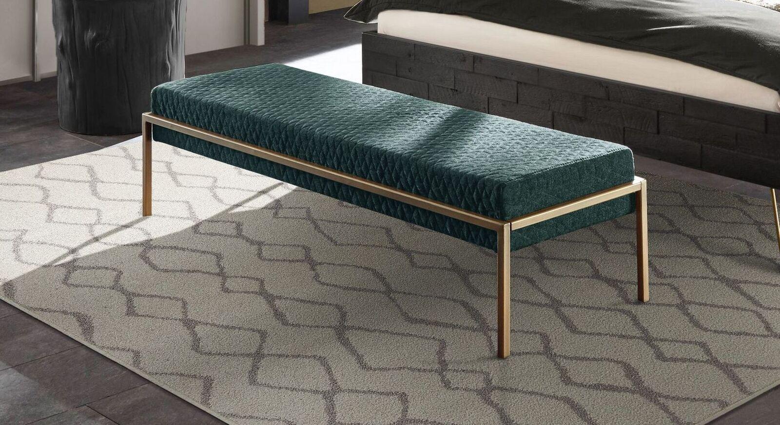 Bettbank Gran Rosario mit smaragdfarbenem Stoffbezug