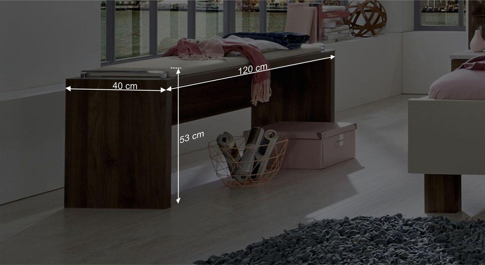 Bettbank Moas Bemaßungsgrafik