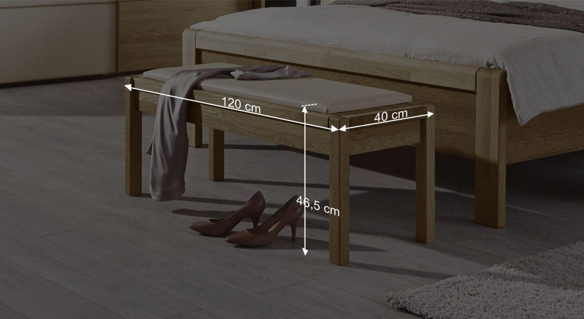 Bettbank Praias Bemaßungsgrafik