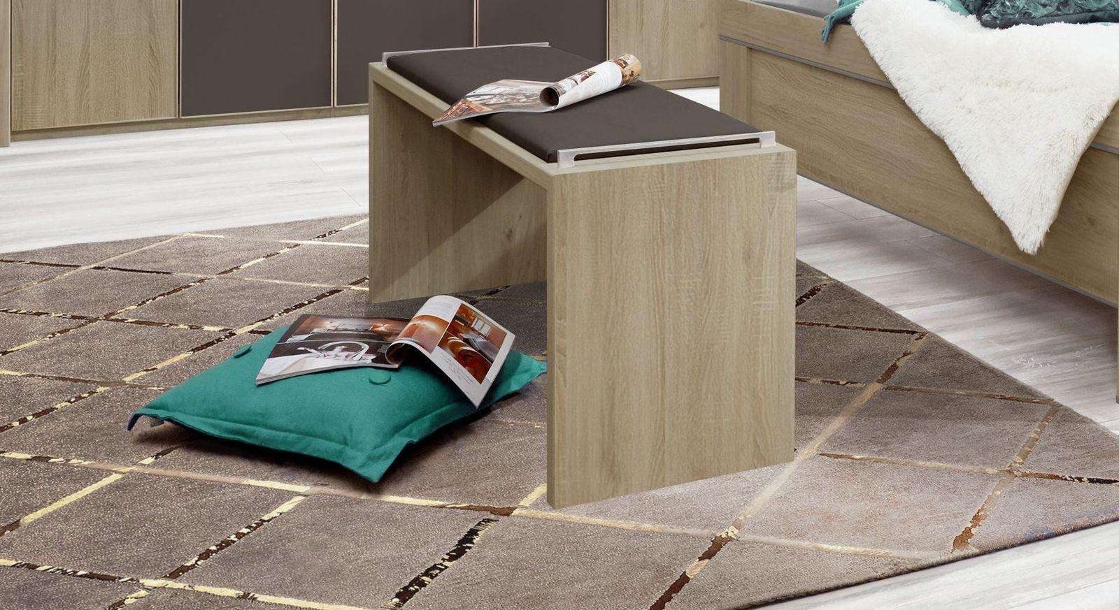 Bettbank Runcorn mit havannafarbenem Sitzpolster