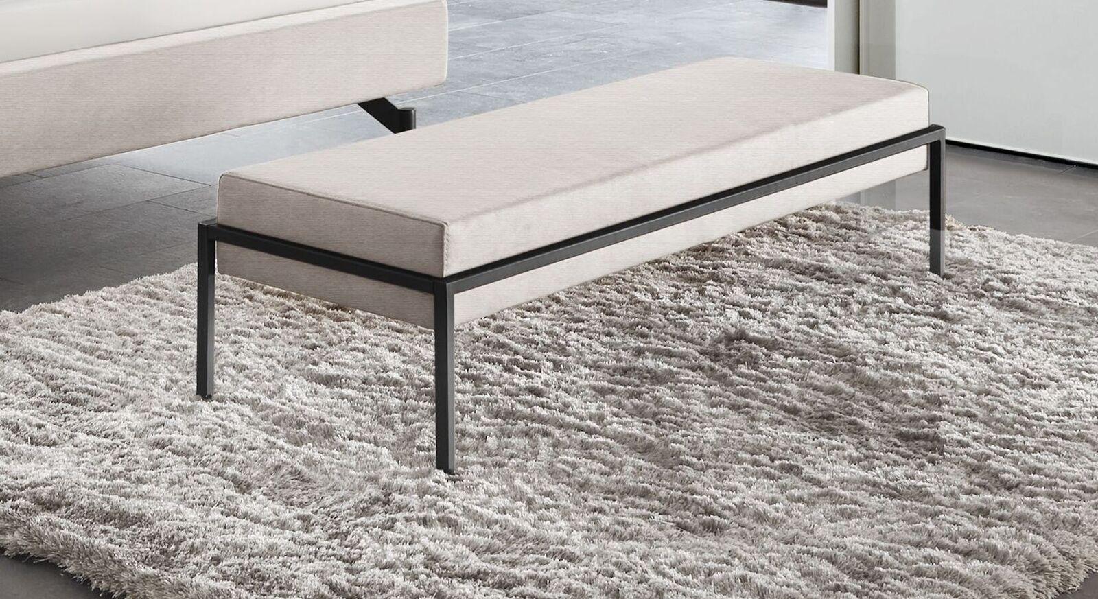 Bettbank Sotello mit elfenbeinfarbigem Sitzpolster