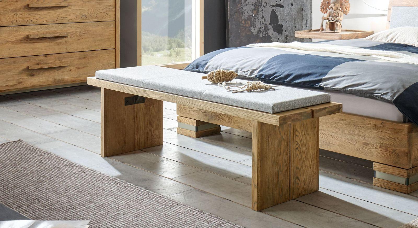 Bettbank Valdivia optional mit passendem Sitzkissen