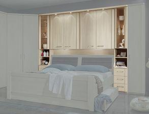 Überbau-Schlafzimmer in Edel-Esche Dekor für Senioren - Palena