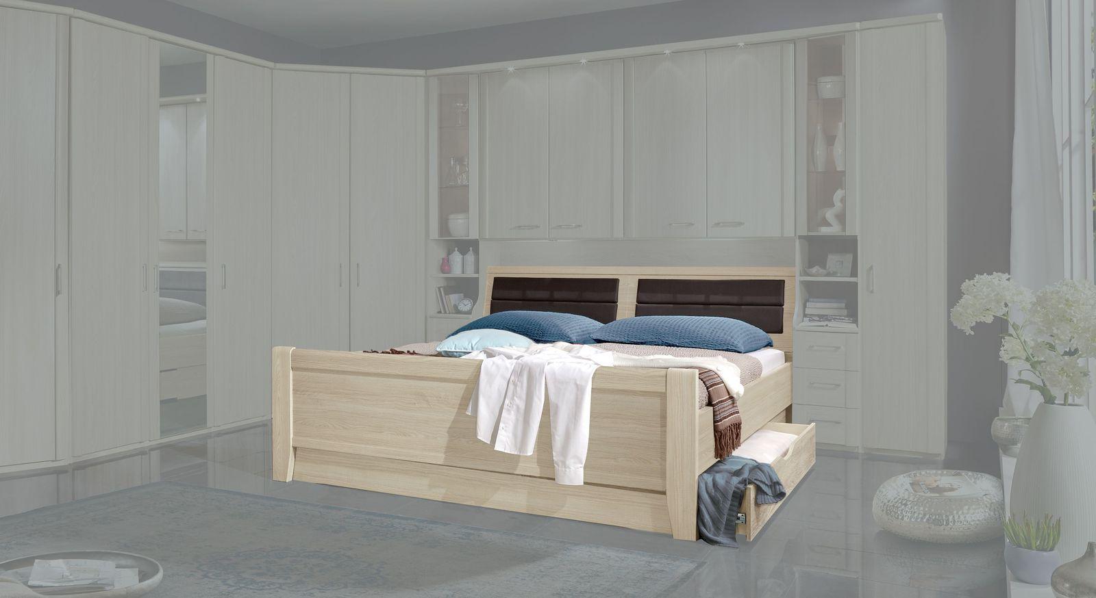 Bettbrücken-Bett Palena mit optionalen Schubkästen
