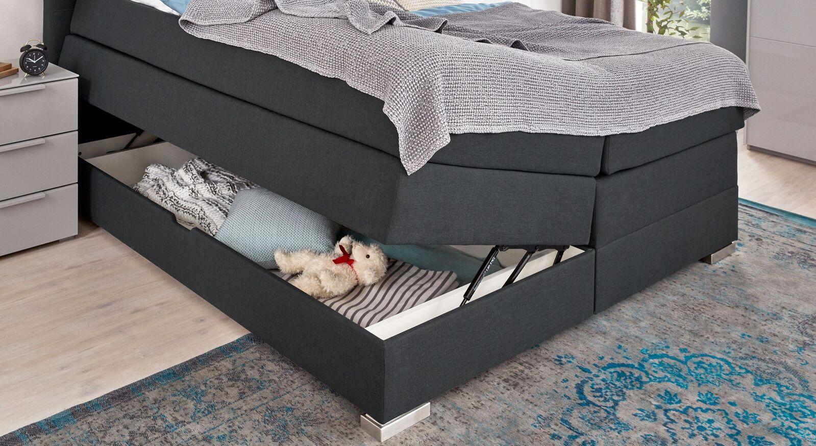 Bettkasten-Boxspringbett Agulo mit integriertem Stauraum