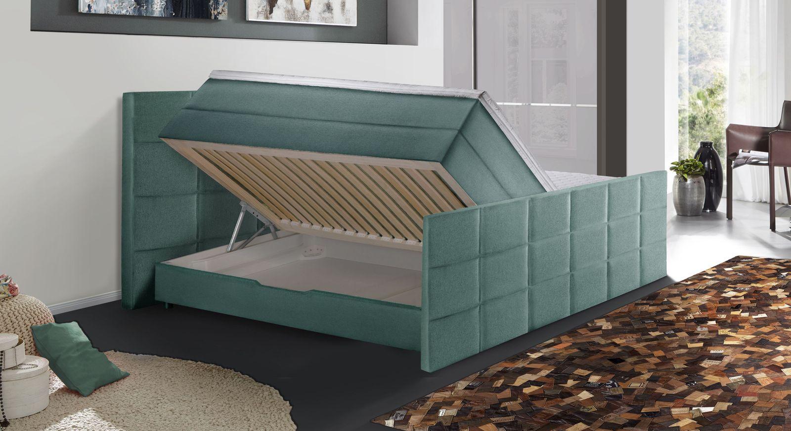 Praktisches Boxspringbett Cordilla mit aufklappbarem Bettkasten