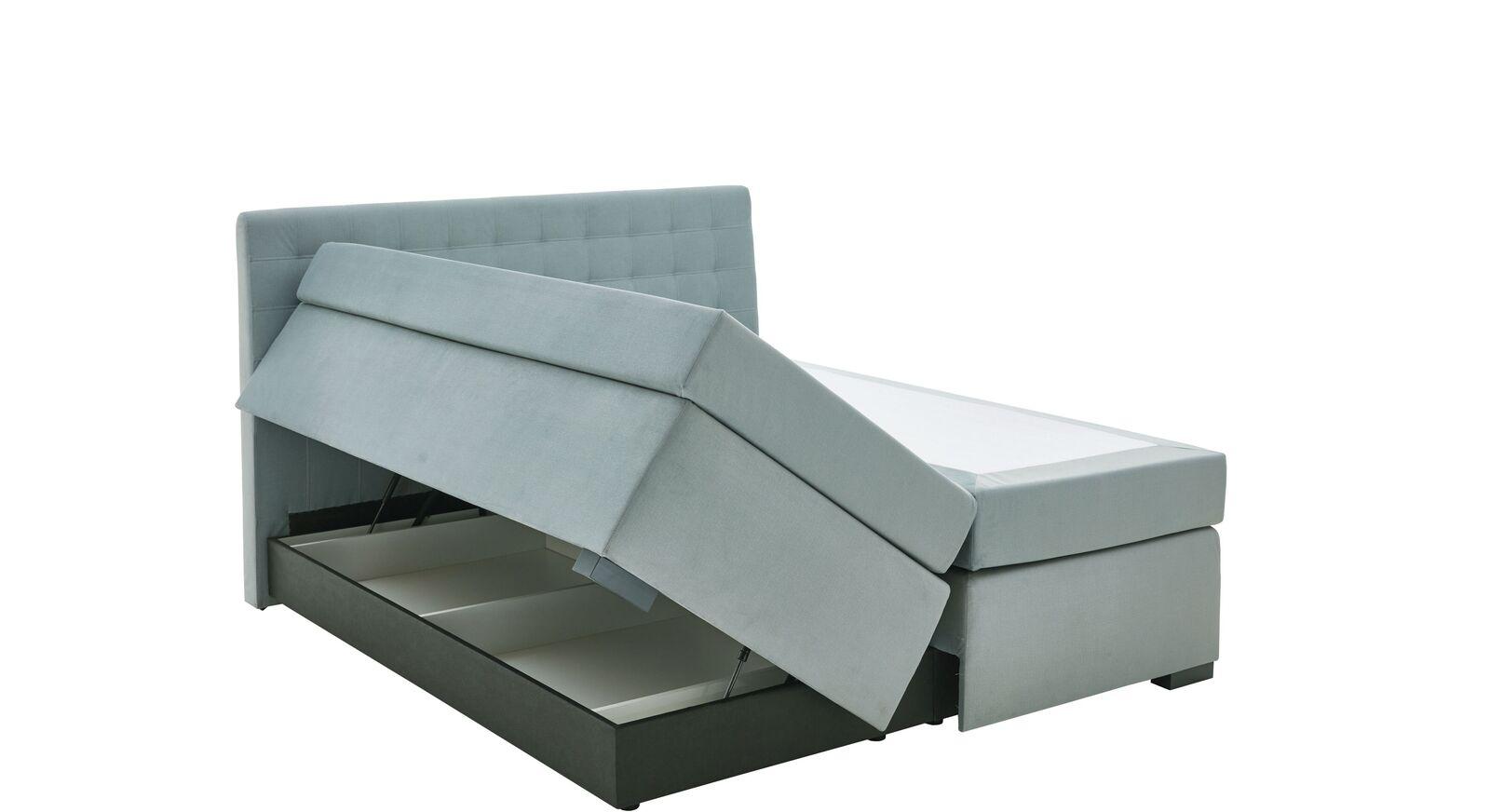 Bettkasten-Boxspringbett Edessa mit praktischen Gasdruckfedern
