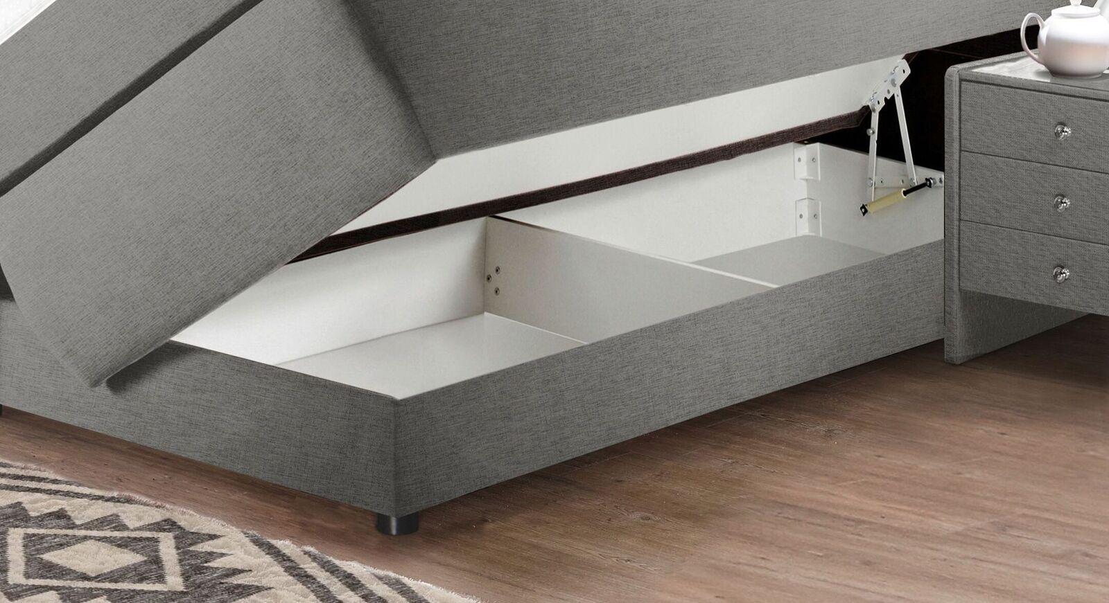 Bettkasten-Boxspringbett Highgate mit geteilter Bettbox