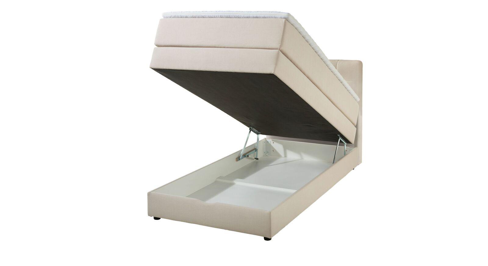 Boxspringbett Luciano mit leicht zu öffnendem Bettkasten