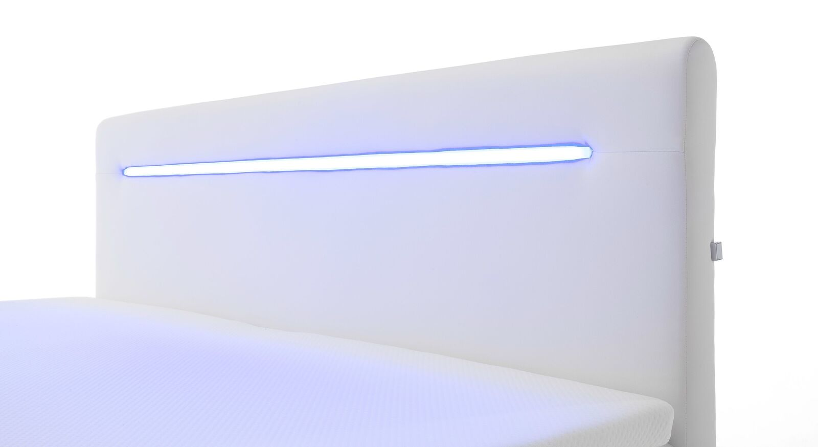 Bettkasten-Boxspringbett Tarasco mit beleuchtetem Kopfteil
