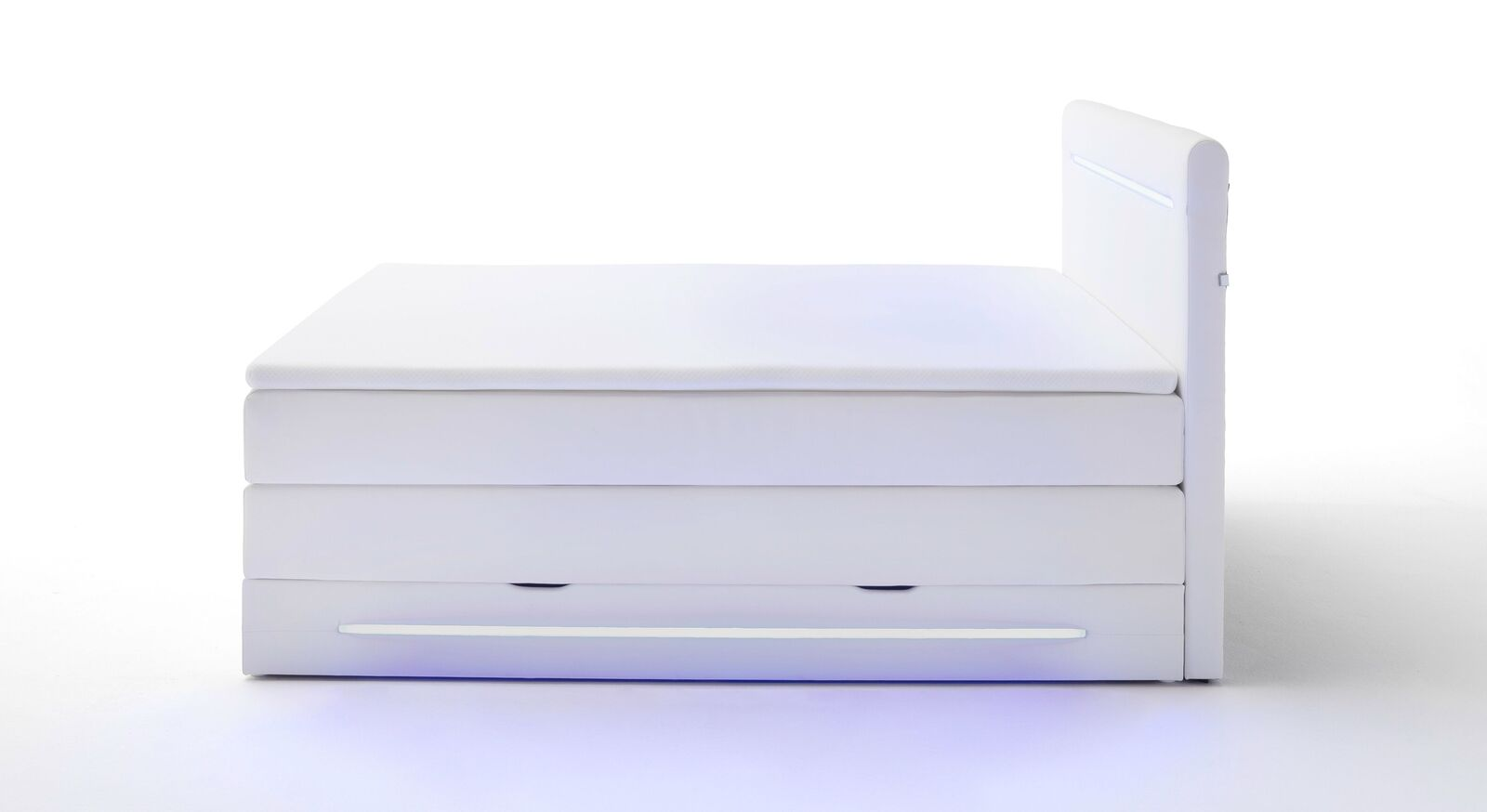 Bettkasten-Boxspringbett Tarasco mit moderner Beleuchtung